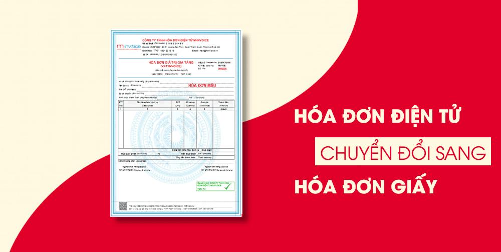 Hóa đơn điện tử chuyển đổi sang hóa đơn giấy có cần đóng dấu, chữ ký ?