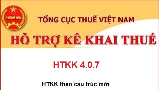 Phần mềm HTKK 4.0.7 mới nhất - mở rộng số tỉnh thành phố áp dụng