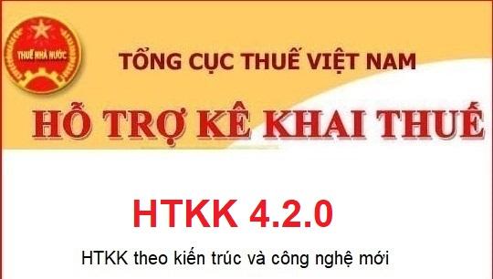Phần mềm HTKK 4.2.0 mới nhất Tổng cục Thuế